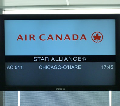 Air Canada flights to Chicago