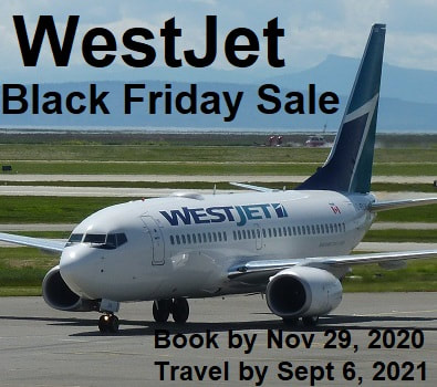 Once a year savings with the WestJet Black Friday Sale